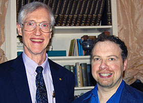 Nobel laureates John Mather (2006) and Adam Riess (2011).
