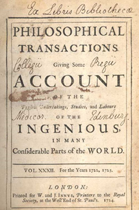 Philosophical Transactions for the Royal Society cover