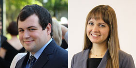 Ryan Murphy, this year's AIP Congressional fellow, and Rebecca Reesman, this year's AIP-ASA Congressional fellow
