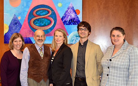 From the left, Session II chair and speakers -- Ellen Weiss, Rick Fienberg, Jill Straniero, Chris Faesi, and Sara Conners