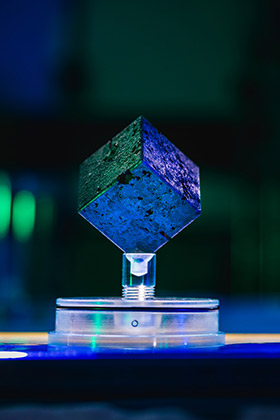 Recognize this cube? It's one of the 664 uranium cubes from the failed nuclear reactor that German scientists tried to build in Haigerloch during World War II. Credit: John T. Consoli/University of Maryland