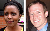 AIP-ASA Fellow Rose Mutiso (left); AIP Fellow Mark Mozena (right)