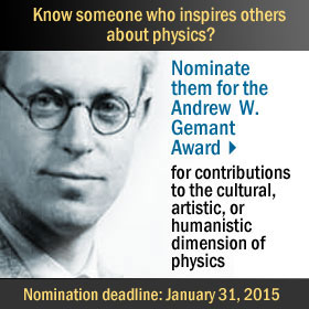 Gemant Nominations due January 31, 2015
