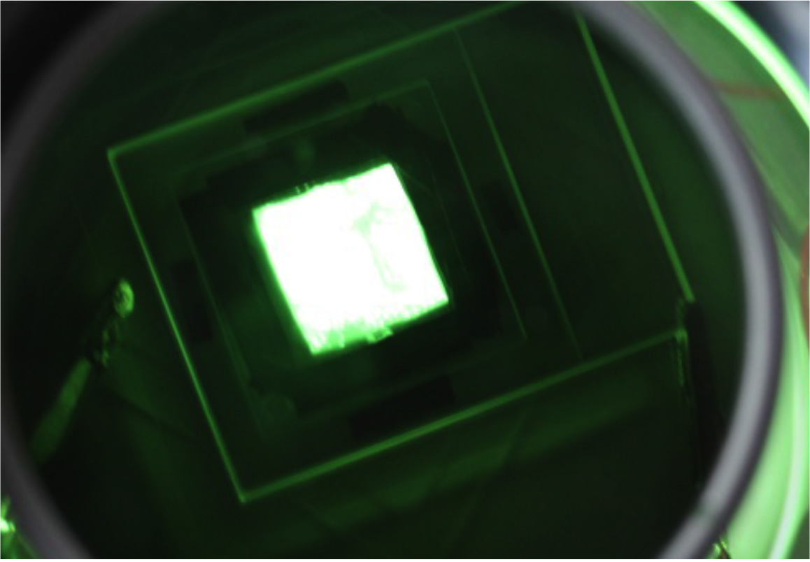 Homogeneity image of a planar light source device