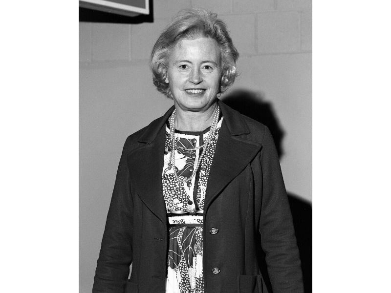 Portrait of astrophysicist Margaret Eleanor Burbidge.