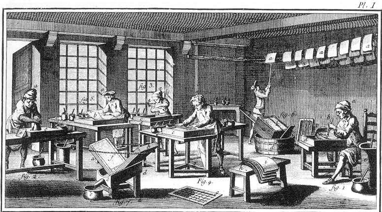 Marbler's studio in the Diderot-D'Alembert Encyclopédie