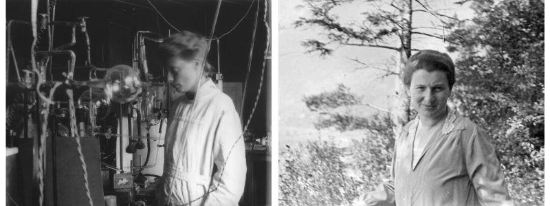 Side by side portraits of Hertha Sponer and Hedwig Kohn.