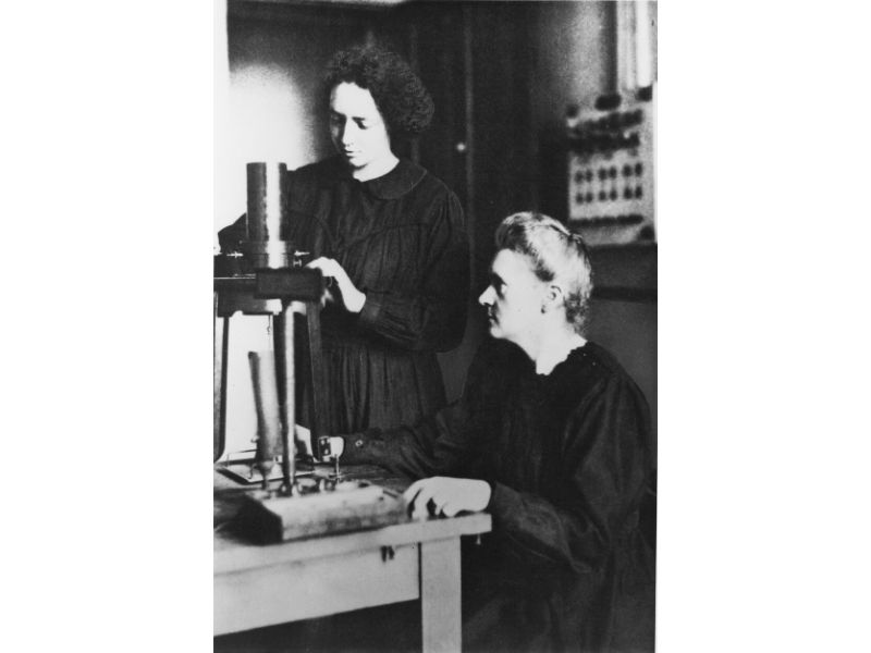 Marie Curie and her daughter, Irene Joliot-Curie.
