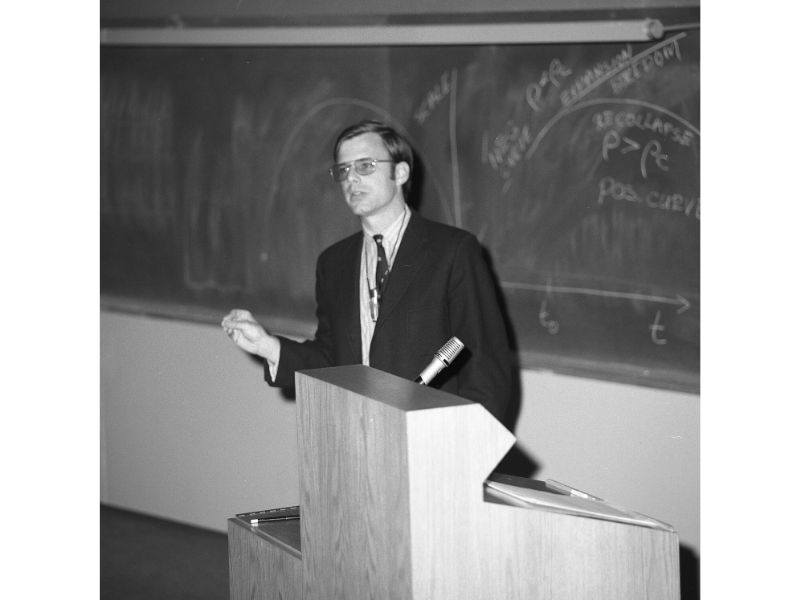 R. Bruce Partridge during a lecture.