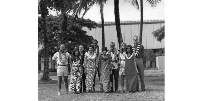 A group portrait from the Third Hawaii Conference on High Energy Physics.