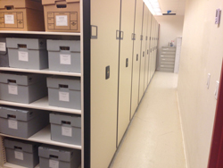 Archives stacks after with mechanical system.