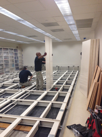 New mechanical shelving being installed.