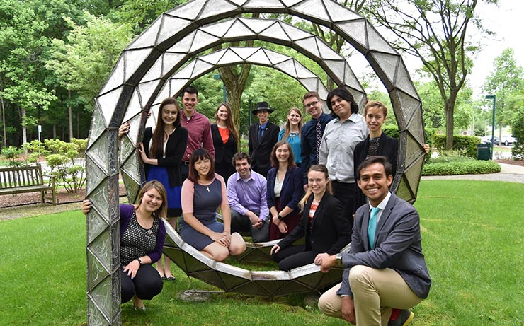 2017 Society of Physics Students interns at the American Institute of Physics