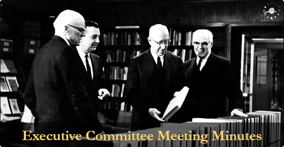 Executive Committee minutes main photograph.
