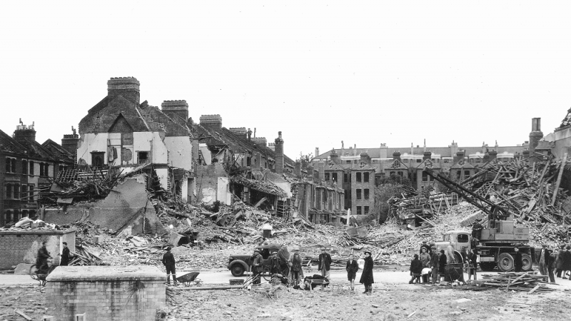 V-1 Bomb Damage in London