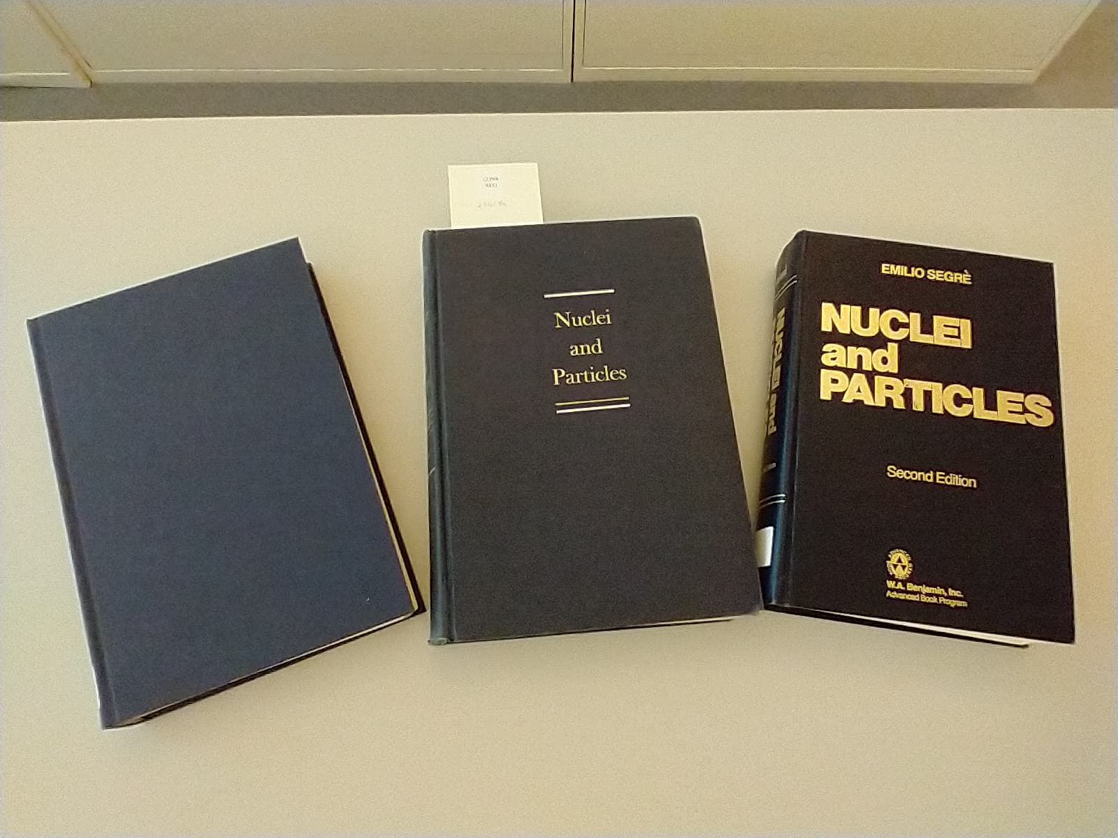 Three versions of Nuclei and Particles