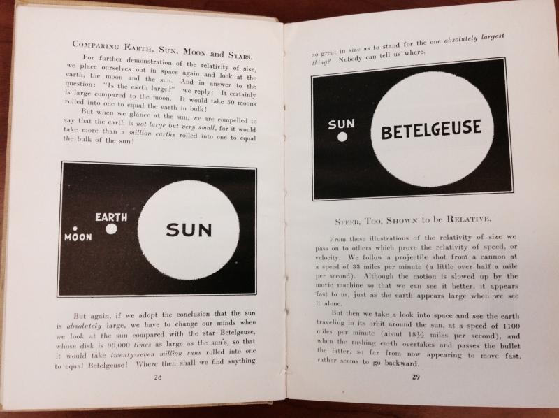 "Illustration: ""Comparing Earth, Sun, Moon and Stars."""