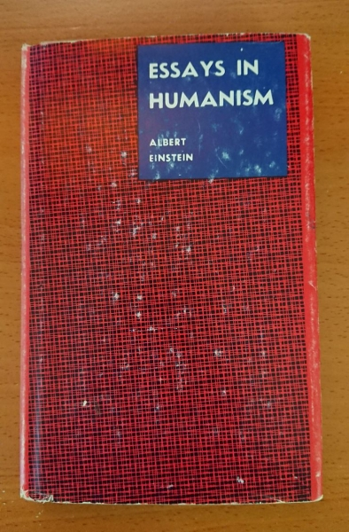 Front cover of Essays in Humanism by Albert Einstein, 1950.