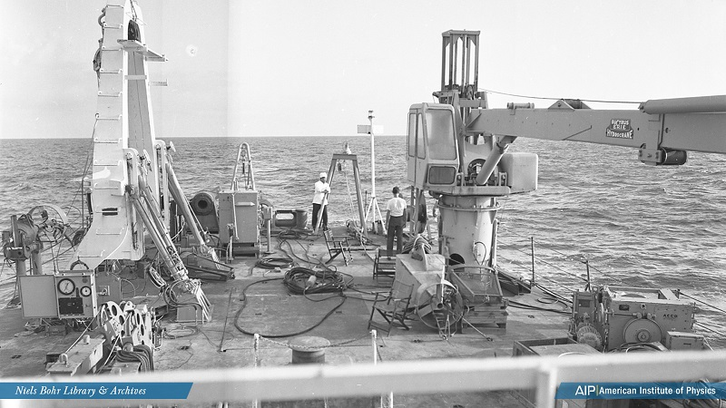 Equipment on the after deck of the USNS Kane, 1968
