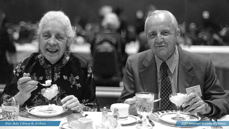 Melba Phillips and Herman William Koch eating ice cream