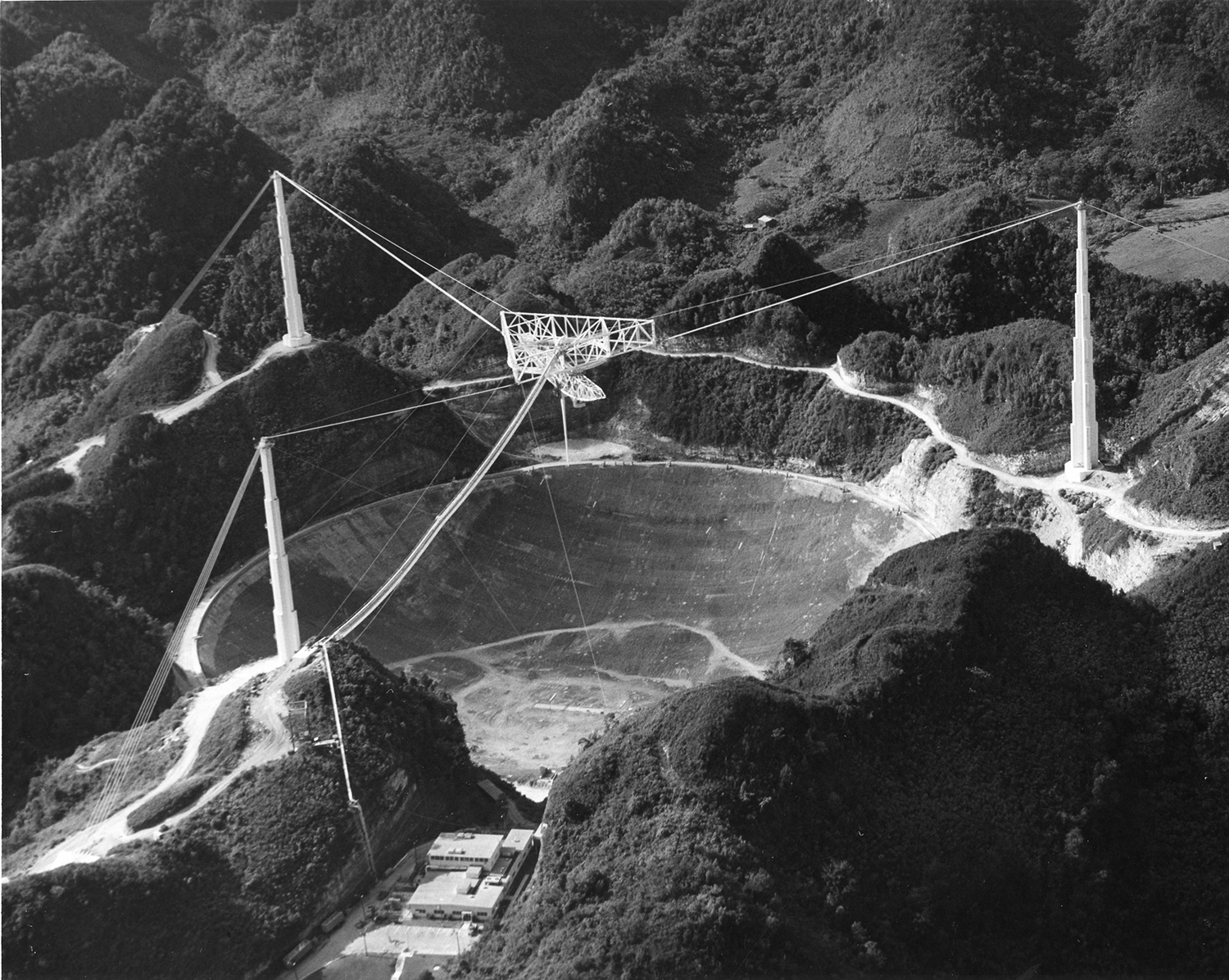 Aerial view of Arecibo Observatory