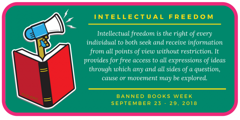 Definition of intellectual freedom, Artwork courtesy of the American Library Association, www.ala.org