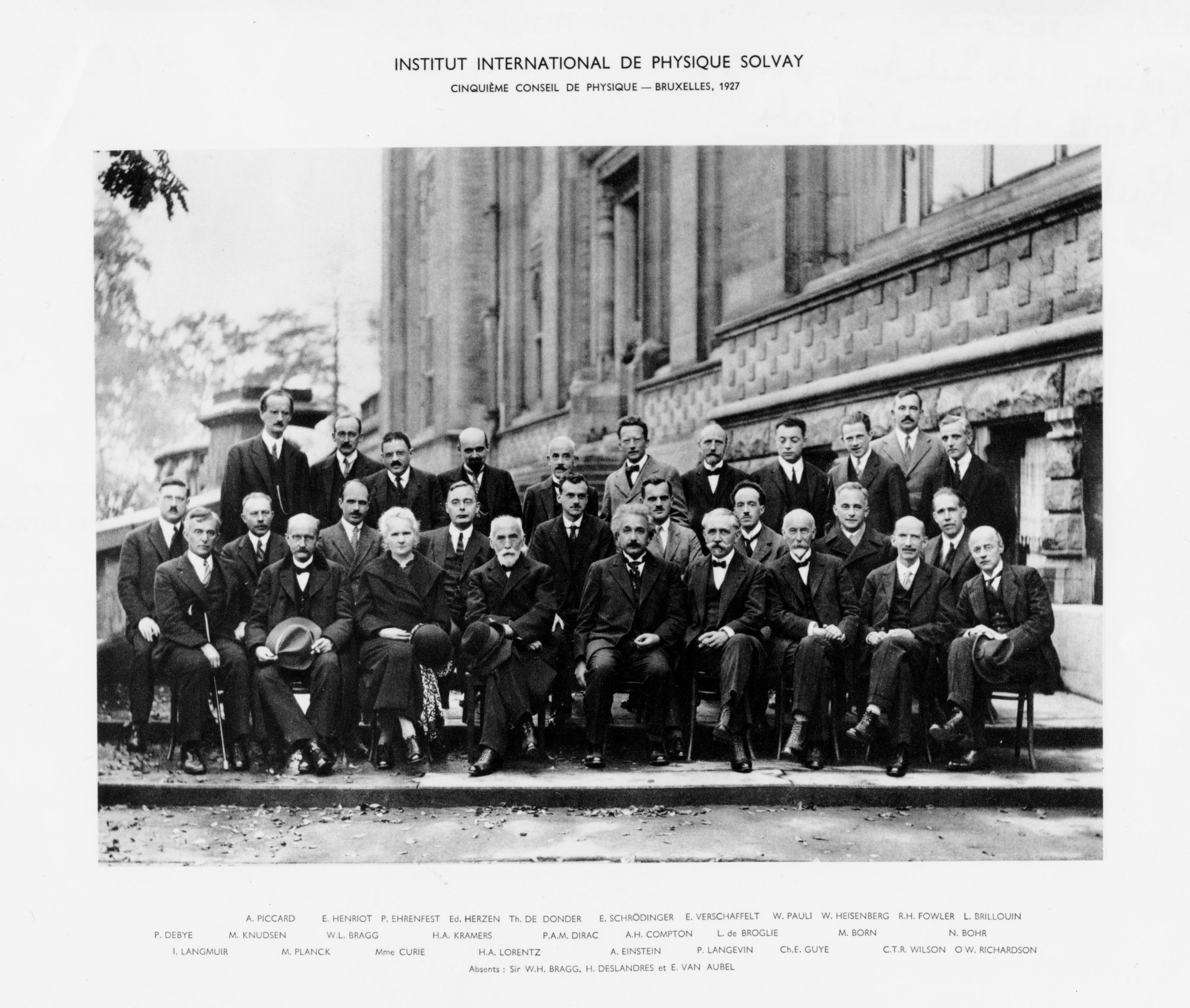 1927 Fifth Solvay Conference on Physics.
