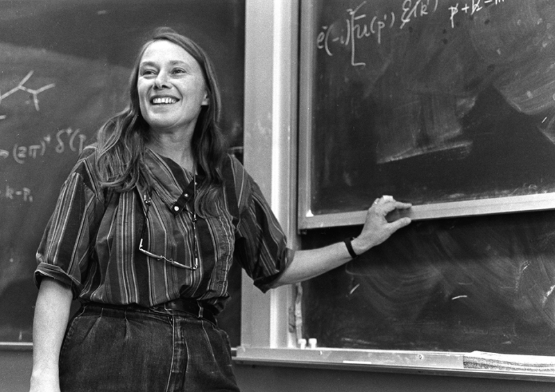 Mary Gaillard at the blackboard.