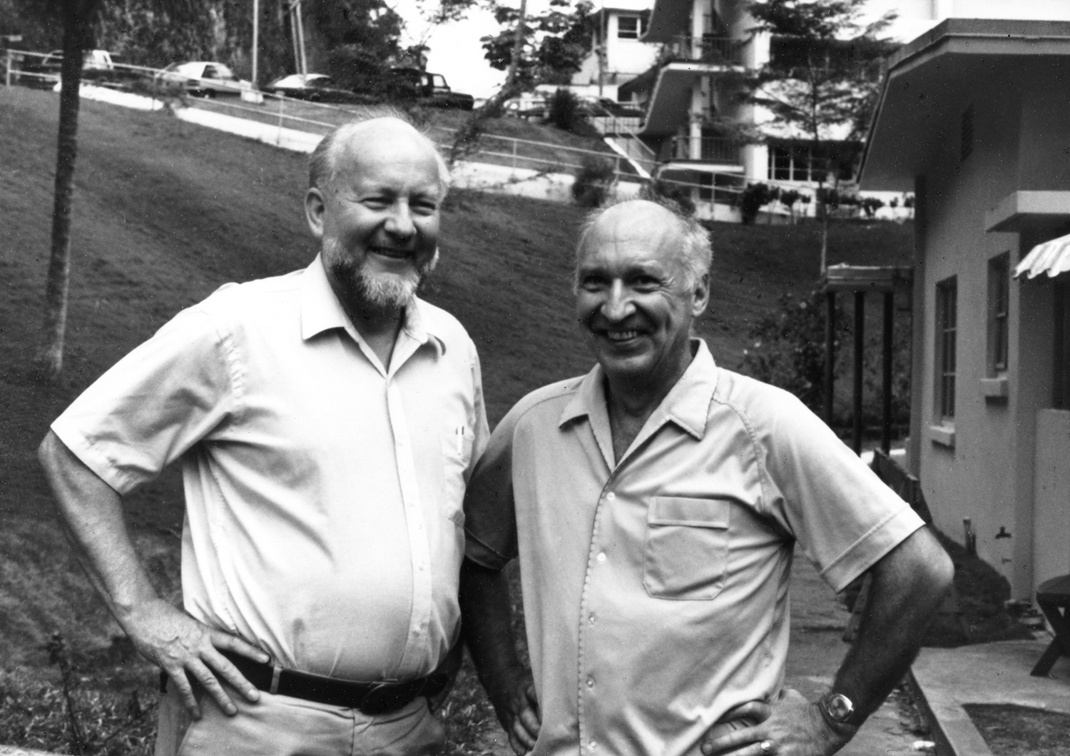 Tor Hagfors and Colin Hines in Arecibo, P.R.