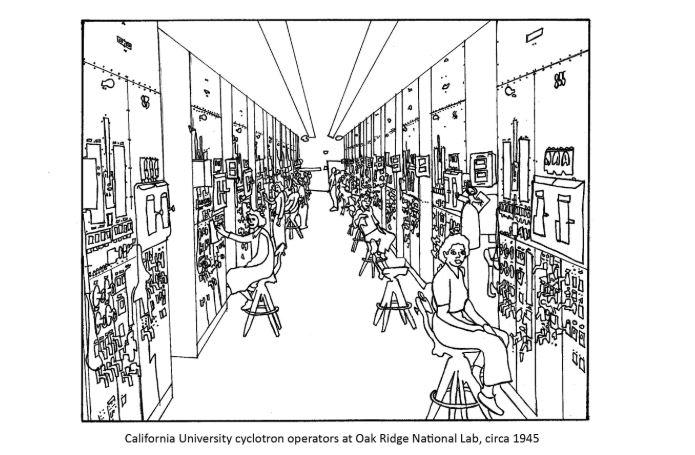 Coloring page jpeg of Calutron operators