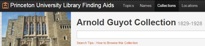 Arnold Guyot finding aid