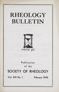 Rheology Bulletin February 1942