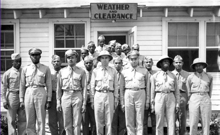 The Staff of the Tuskegee Weather Station circa 1944.
