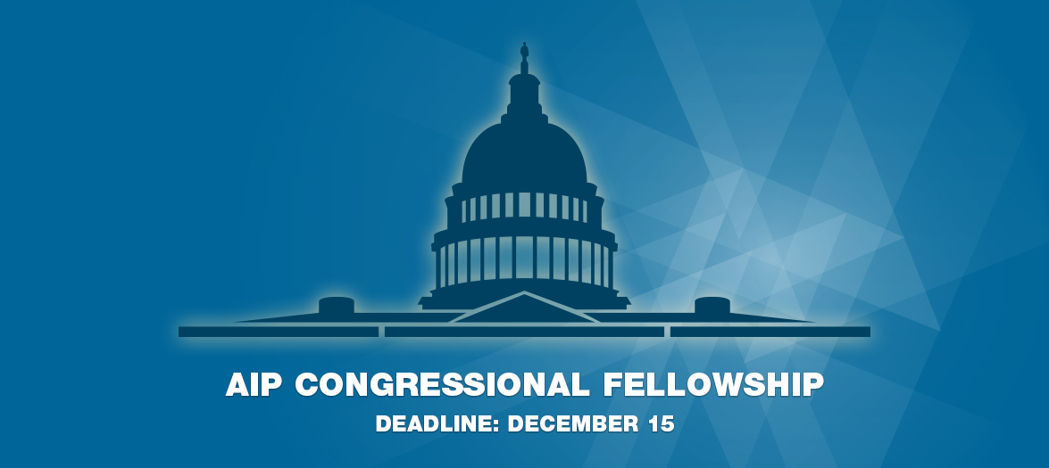 AIP Congressional Fellowship 2021