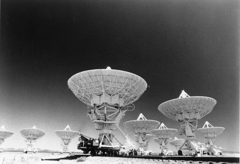 National Radio Astronomy Observatory's Very Large Array of radio/telescope dishes in Socorro, New Mexico.