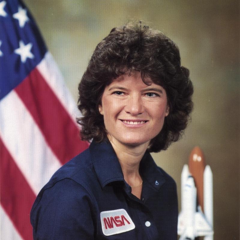 Portrait of Sally Ride.