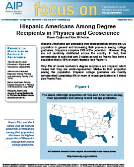 Hispanic Americans Among Degree Recipients in Physics and Geoscience